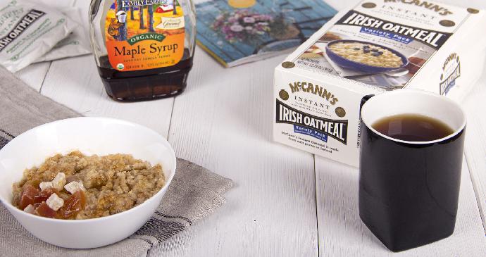 ирландской овсянкой McCann's Irish Oatmeal и кленовым сиропом
