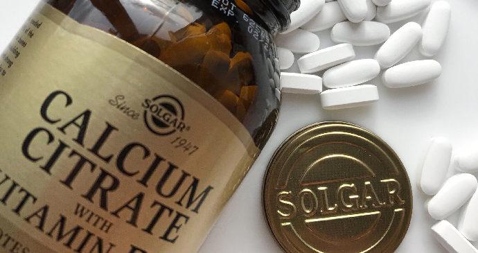 Solgar, Цитрат кальция с витамином D3 в таблетках