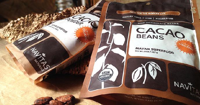 Сырые шоколадные бобы, органический какао-порошок от Navitas Natura