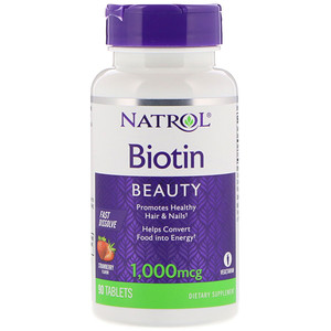 Биотин Natrol 1000