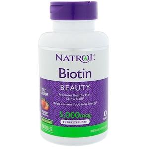 Биотин iHerb, Natrol, 5000