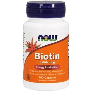 Биотин на Айхерб, biotin now foods