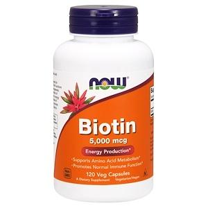 Биотин iHerb Now Foods, 5000