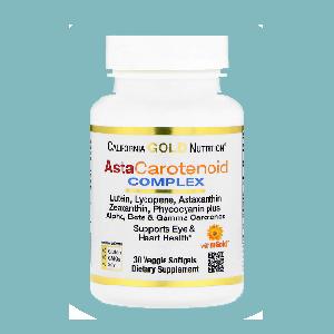 Комплекс с лютеином, ликопином и астаксантином, 30 капсул