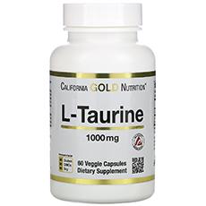 California Gold Nutrition, L-таурин, 1000 мг, 60 растительных капсул