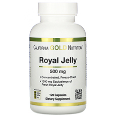 California Gold Nutrition, маточное молочко, сублимированный концентрат, 500 мг, 120 растительных капсул