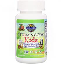 Garden of Life, Vitamin Code, Kids, жевательные цельнопищевые поливитамины для детей, ягоды вишни, 30 жевательных мишек