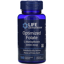 Life Extension, Optimized Folate, 1,000 mcg, 100 Vegetarian Tablets