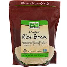 Now Foods, Real Food, стабилизированные рисовые отруби, 567 г