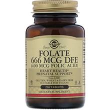 Solgar, Фолат, 400 мкг, 250 таблеток