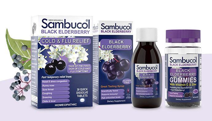 Бузина черная экстракт черной бузины, Самбукол