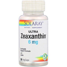 Solaray, Ультра зеаксантин, 6 мг, 30 вегетарианских капсул