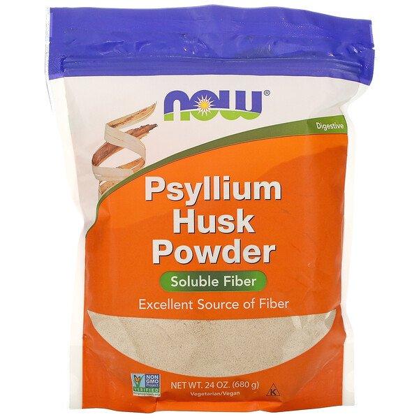 Now Foods, порошок из шелухи семян подорожника, 680г (1,5фунта)