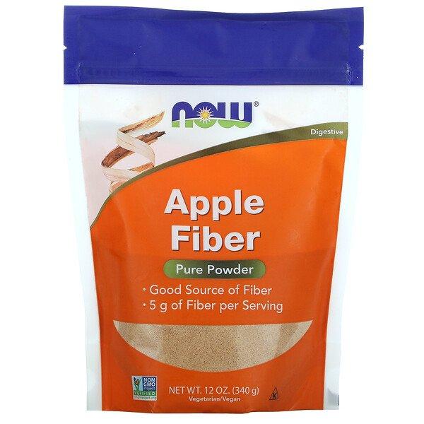 Now Foods, яблочная клетчатка, чистый порошок, 340г (12унций)